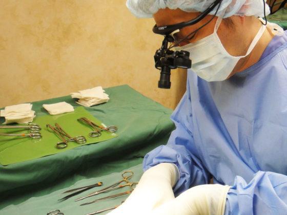 拡大鏡手術